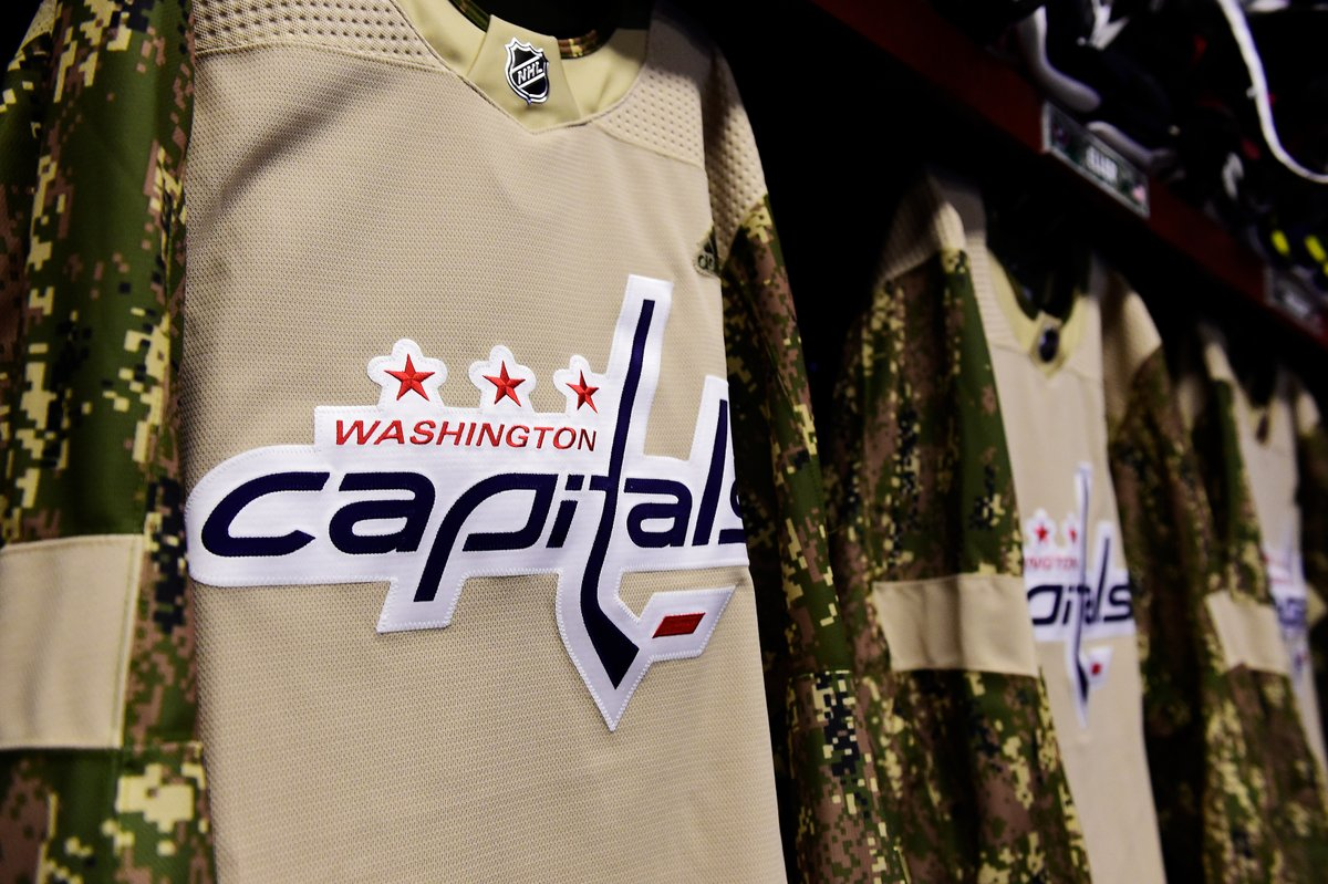 5d1b42903 The Capitals raised almost $40,000 from camo jerseys. Jay Beagle's ...