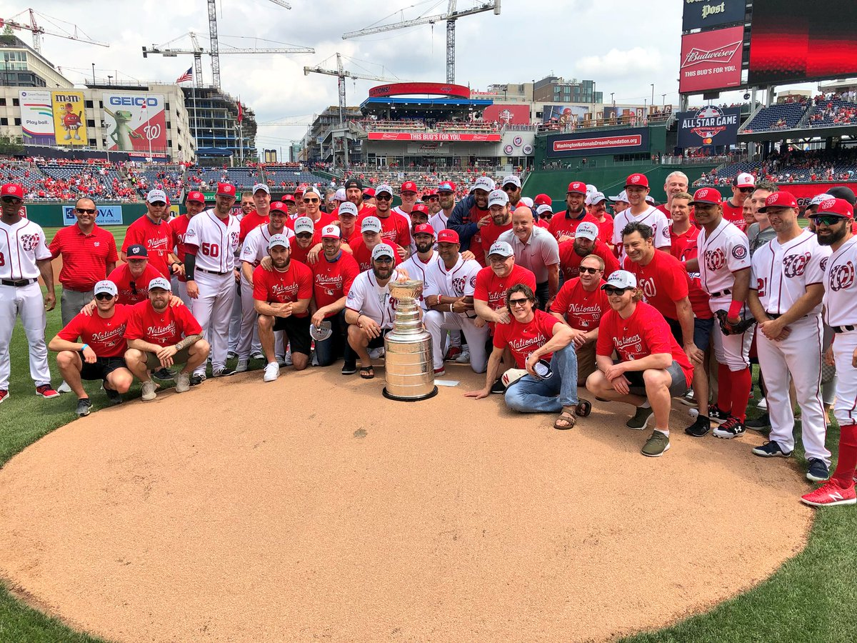 b6203398d54 Alex Ovechkin gets mulligan on first pitch as Capitals and Stanley Cup make  trip to Nationals Park