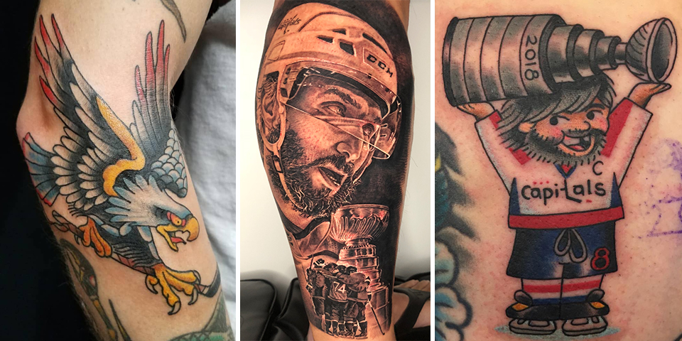 9d971d56f Some of these Caps Stanley Cup tattoos are so good Alex Ovechkin liked them  on Instagram
