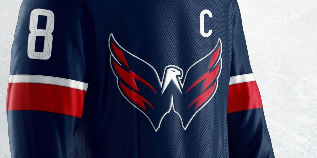 c97546980 Caps fans want the Weagle as the primary logo on a jersey. This man created  the perfect design for it.
