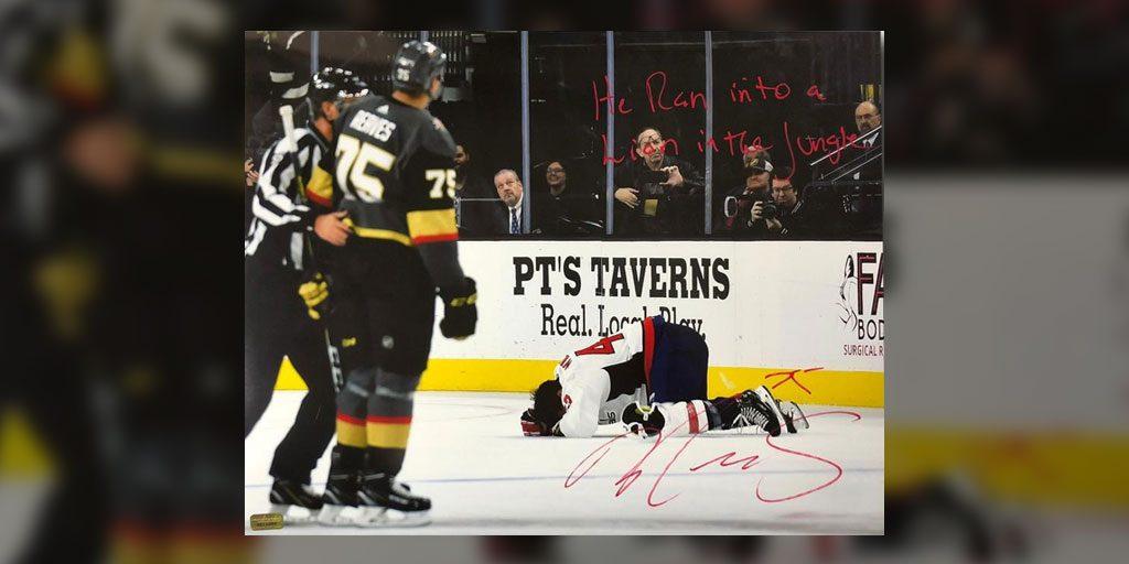 f21037d1c Ryan Reaves signed photos for Las Vegas memorabilia company taunting Tom  Wilson's injury