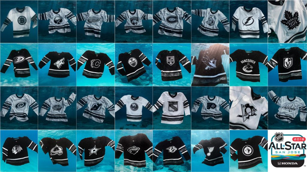 c1ba45ce4 NHL's environmentally-conscious All-Star jerseys feature team logo on front  for first time ever