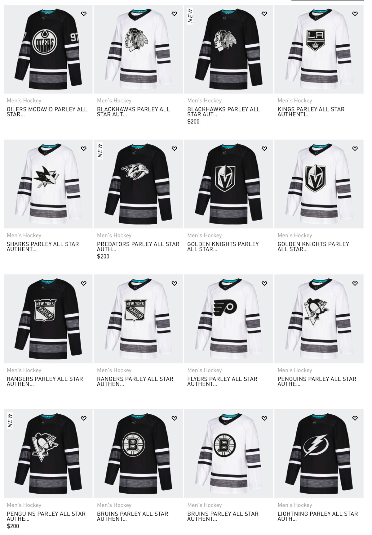 21312f119 The Adidas jerseys run for $200 a piece while a normal-fabric Fanatics  jersey will be $140.