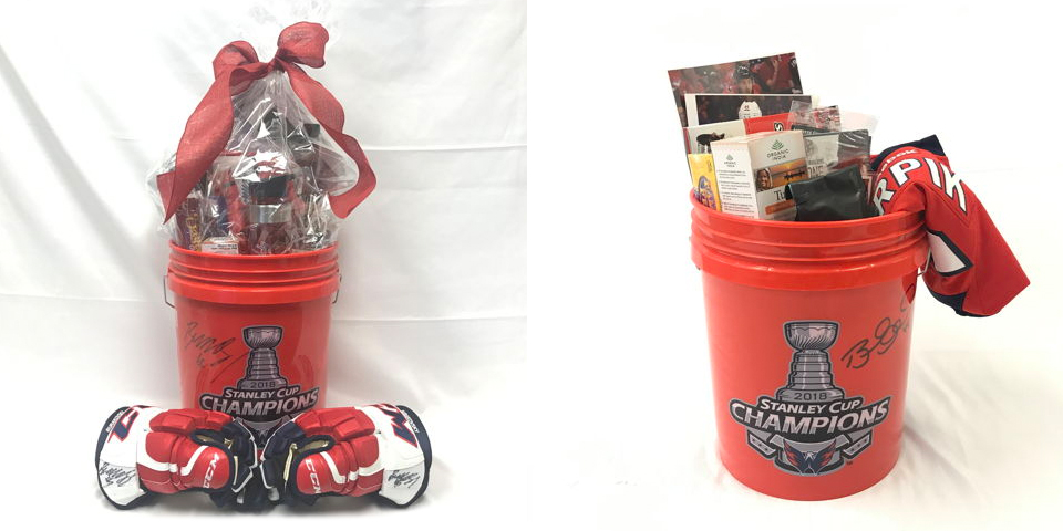dfd4489e Capitals annual Better Halves basket auction features Stanley Cup Champions  buckets, survival gear, and salami