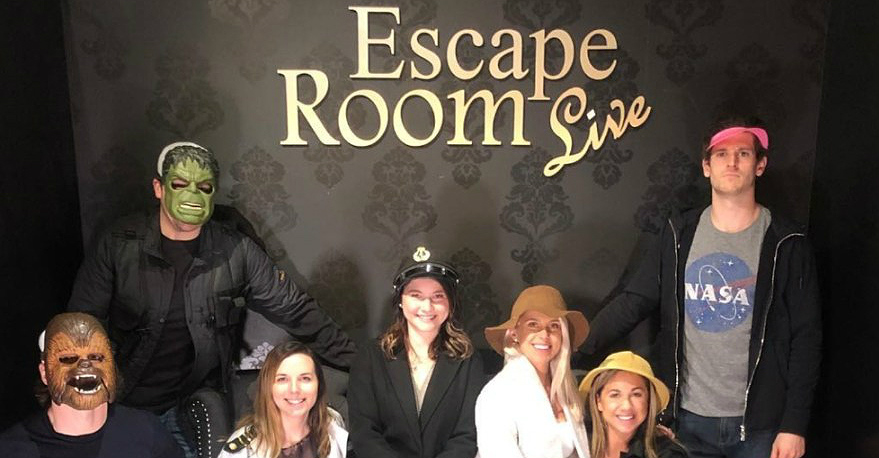 TJ Oshie and Nic Dowd make it out of Escape Room Live