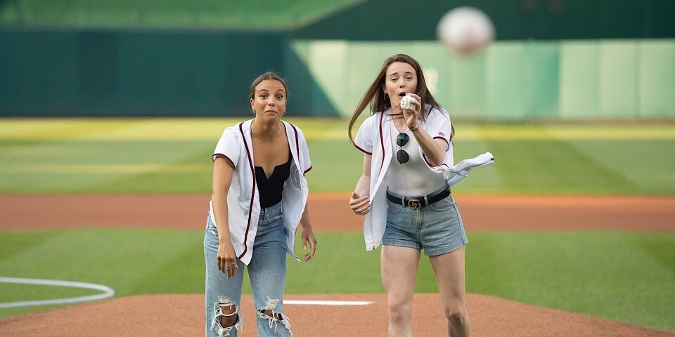USWNT's Rose Lavelle and Mal Pugh have first-pitch blooper at Nationals game