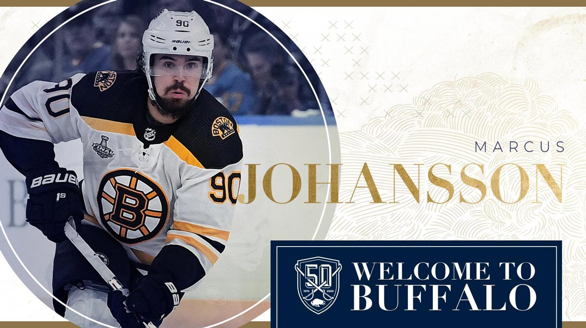 Sabres sign F Johansson to 2-year deal